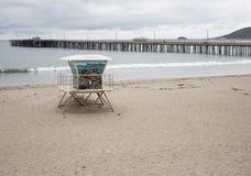 Avila strand, Kalifornien Arkivfoto