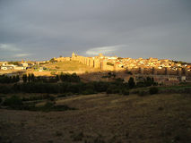 Avila, Spain, at sunset royalty free stock photography