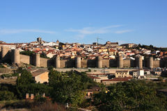 Avila townscape stock photo