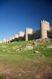 Avila turrets. View of Avila city at Castilla in Spain Stock Photos