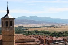 Avila View. This picture was taken from the castle walls in Avila, Spain Royalty Free Stock Image