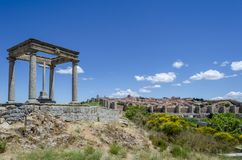Avila. View panoramic of the walled city of Avila from the four columns Stock Images