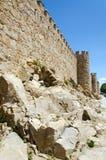 Avila Wall. Avila city wall with mother rock and deep blue sky Royalty Free Stock Photography