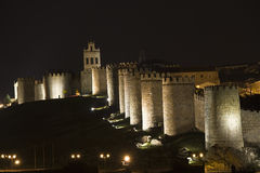 Avila walls. Royalty Free Stock Photo