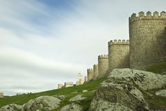 Avila walls. Stock Photo