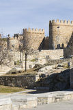Avila walls in the bridge area. Royalty Free Stock Photography