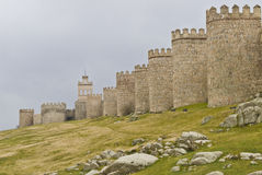 Avila walls on a cloudy day. Royalty Free Stock Photos