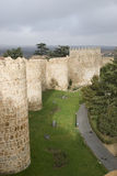 Avila walls in saint Vincent garden. Stock Image