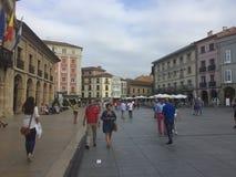 Aviles Asturias Spanje in de zomer stock foto