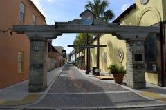 Aviles Street, St. Augustine, Florida. Historic Aviles Street in St. Augustine, Florida, USA on sunny day stock photo