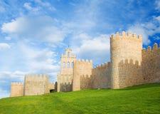 Avilla - väggarna av den gamla staden Arkivbilder
