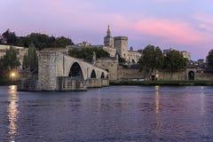 ` Aviñón - Aviñón - Francia de Pont d Imagen de archivo