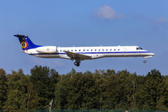 Avión de pasajeros belga de la fuerza aérea Imagen de archivo libre de regalías
