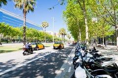Avinguda Diagonal avenue in Barcelona Stock Image