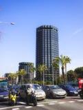 Avinguda przekątna, Barcelona Zdjęcie Royalty Free