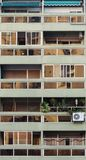 avintage大厦的,都市家庭概念阳台 库存图片