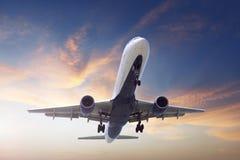 Avião da aterrissagem Fotografia de Stock Royalty Free