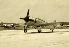 Avião da segunda guerra mundial Fotografia de Stock Royalty Free