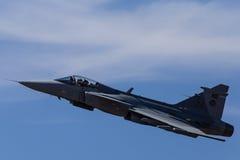 Avião de combate de Gripen Foto de Stock