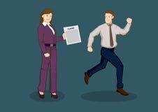 Avioding-Geschäft behauptet Vektor-Illustration Stockfotos