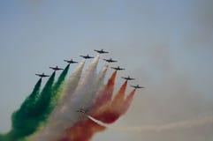 aviojets итальянские Стоковое фото RF