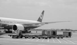 Avion à l'aéroport de Da Nang Images libres de droits