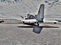 Avion à moteur d'avion de vieux propulseur Images libres de droits
