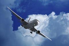 Avion à réaction après décollage Images libres de droits