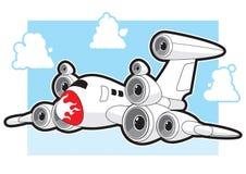 Avion à réaction avec des haut-parleurs Photographie stock