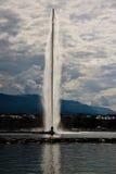 Avion à réaction célèbre d'Eau de fontaine Image stock