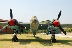 Avion à réaction classique de bombardier Photographie stock