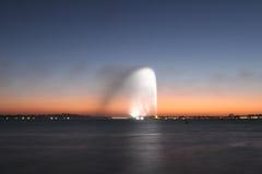 Avion à réaction coloré de l'eau Photographie stock libre de droits