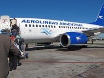 Avion à réaction d'Aerolineas Argentinas Images stock