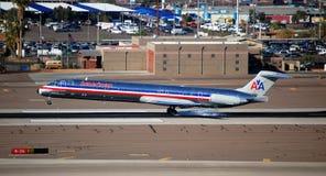 Avion à réaction d'American Airlines Images stock