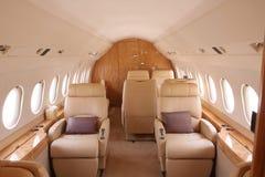 avion à réaction d'intérieur d'affaires Photographie stock libre de droits