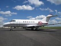 avion à réaction de directeur d'aéronefs Images libres de droits