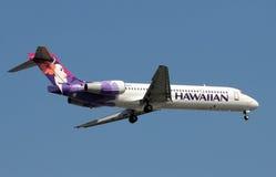 Avion à réaction de Hawaiian Airlines Boeing 717 Image stock