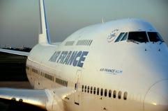 Avion à réaction de KLM d'Air France Photos stock