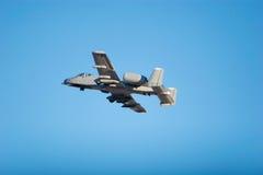 Avion à réaction du combat A-10 photographie stock libre de droits