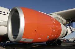 Avion à réaction-engine géante Photos stock