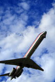 Avion à réaction impressionnant Image libre de droits
