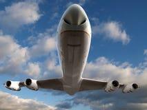 Avion à réaction inférieur images stock