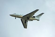 Avion à réaction privé pour le service de charte photographie stock