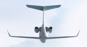 Avion à réaction privé - vue arrière Photos stock