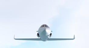 Avion à réaction privé - vue de face Images libres de droits