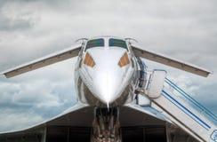 Avion à réaction supersonique Photo stock