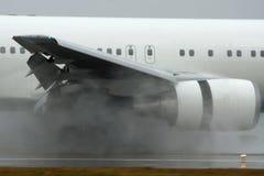 Avion à réaction Thurst inverse Photo stock