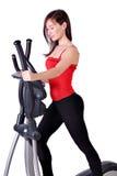 Avion-école de croix d'exercice de forme physique de fille Image stock