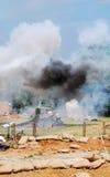 Avion écrasé dans la vapeur Images stock
