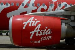AVION AIR ASIA DU CAMBODGE SIEM REAP Photographie stock